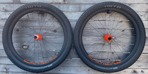 LaMere carbon summer fat wheelset, in Orange!
