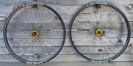 30mm LaMere carbon rims with gold Onyx hubs