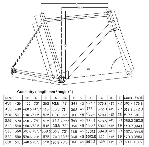 Disc Brake Road Bike Geometry
