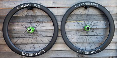 25mm width LaMere carbon rims, 55mm deep, Onyx hubs
