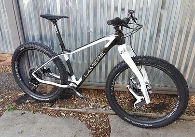 LaMere Cycles custom carbon fat bike - The Killer Whale!