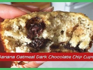 BANANA OATMEAL DARK CHOCOLATE CHIP MUFFINS