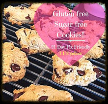 Gluten Free Paleo Friendly Healthy cookies