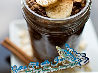 Chocolate Cinnamon overnight Protein Oats