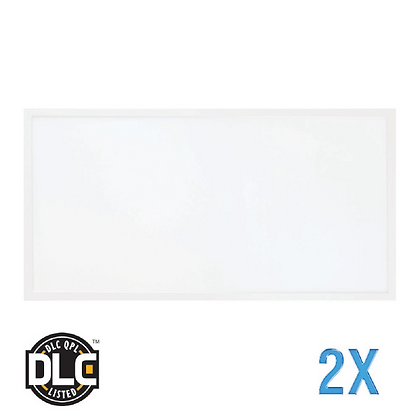 LED Panel 2x4 50W 5000 Lumen w/ Emergency Battery Backup