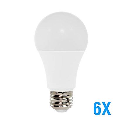 LED A19 60W Equivalent UL 3000K 6-Pack