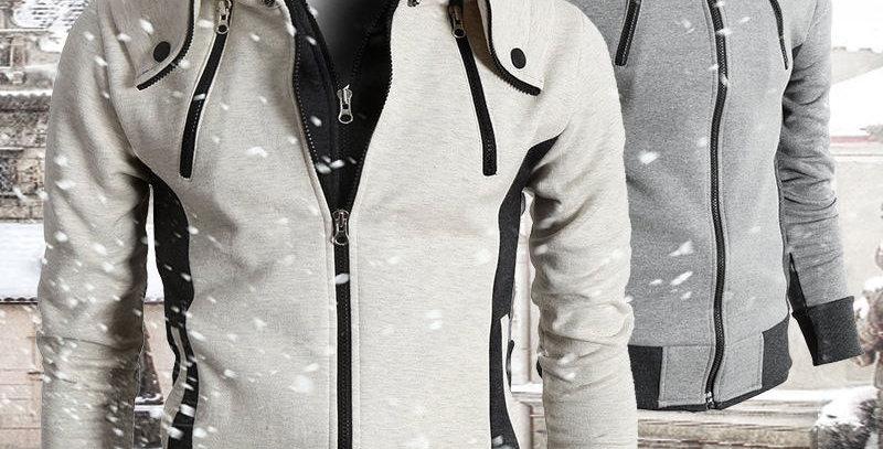 Casual Collar Scarf Fleece Jacket with Hood