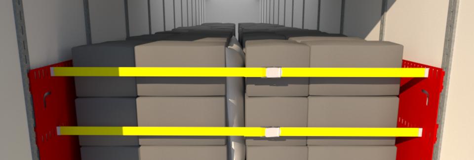 Cargo Brace CB3000, L+R Pair, Powder Coated Red