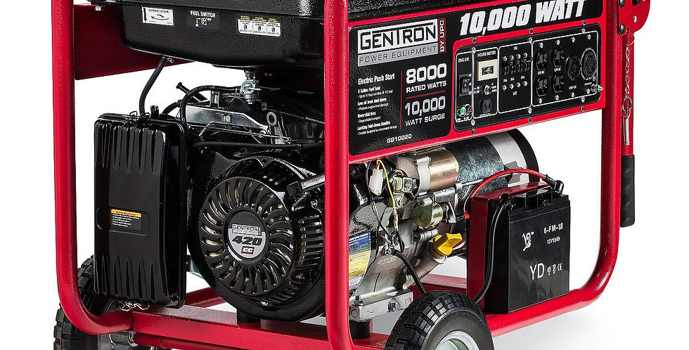 10K GAS GENERATOR WITH ELECTRIC START - 11 HOURS RUN TIME!
