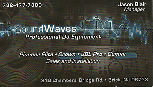 Professional Dj Equipment Sales & installations,Sound waves,sound waves brick, car audio electronics, car audio electronics nj,car audio electronics brick, speakers nj,car radio brick nj,dj equipment brick nj,remote car starters brick,remote car starters n
