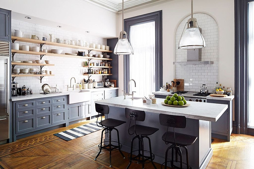 Kitchen from the set of The Intern with Anne Hathaway and Robert De Niro.