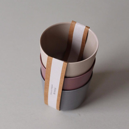 Bamboo Mug 3-pack Fog/Beet/Ocean, Cink