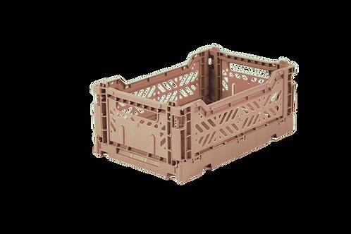 Mini Box Storage Crate - Warm Taupe, Aykasa