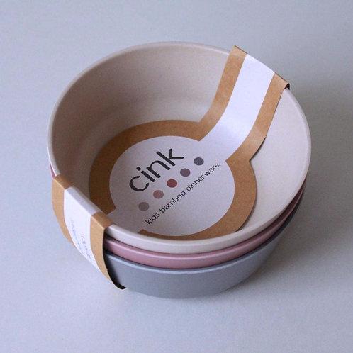 Bamboo Bowl 3-pack Fog/Beet/Ocean, Cink