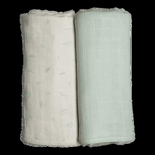 Organic Cotton Swaddle Coastal (2-Pack), Fabelab