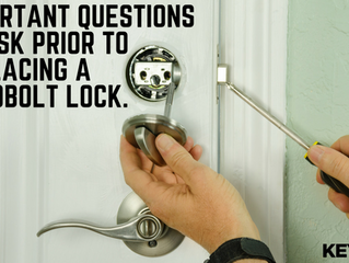 Important Questions to Ask Prior to Replacing a Deadbolt Lock