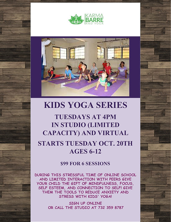 Karma Barre Yoga Studio, Spring Lake, NJ, Kids Yoga