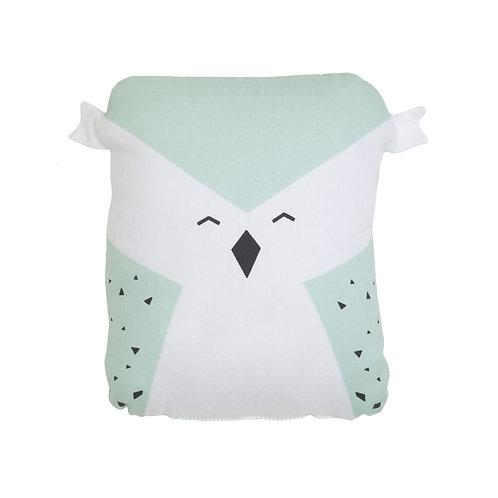Organic Cushion Wise Owl Jade, Fabelab