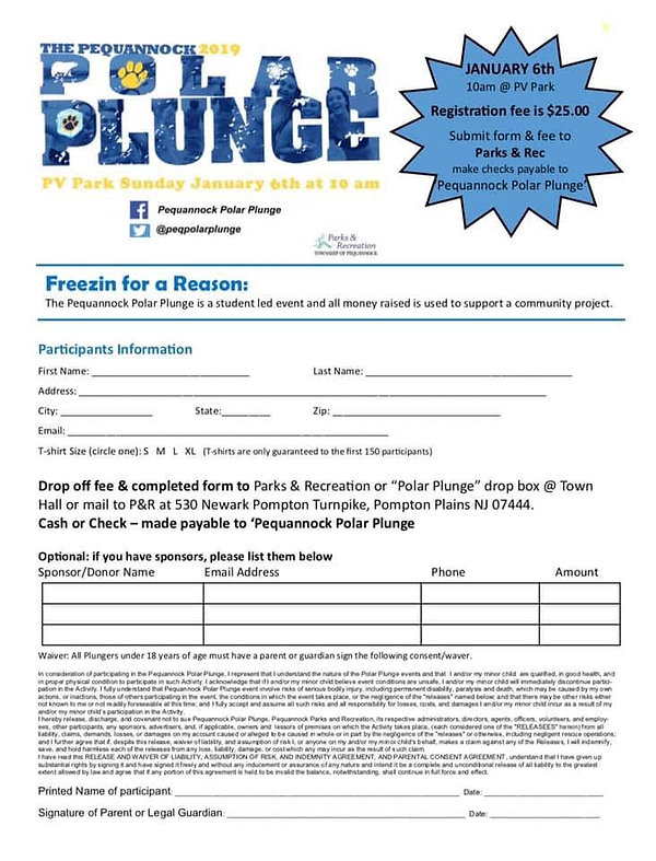 Polar Plunge Sign Up