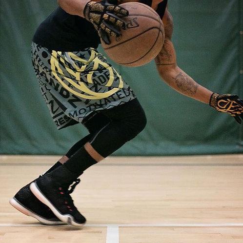 GREY / BLACK CHARACTER BASKETBALL SHORTS