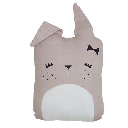 Cute Bunny Cushion Pink, Fabelab