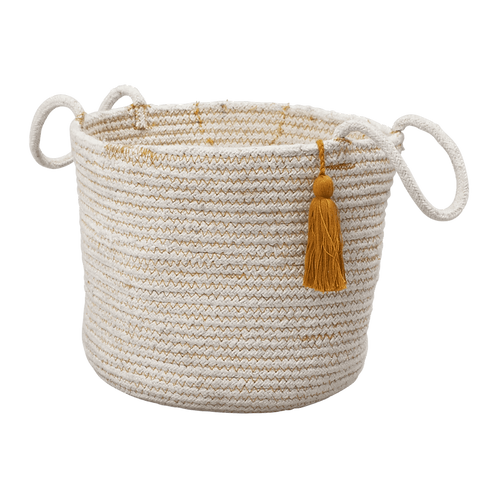 Organic Rope Basket Ochre, Fabelab