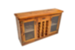 Custom Wood Liquor Cabinet