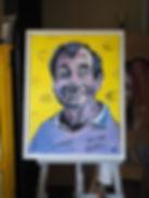 Walter Matthau Portrait Acryl