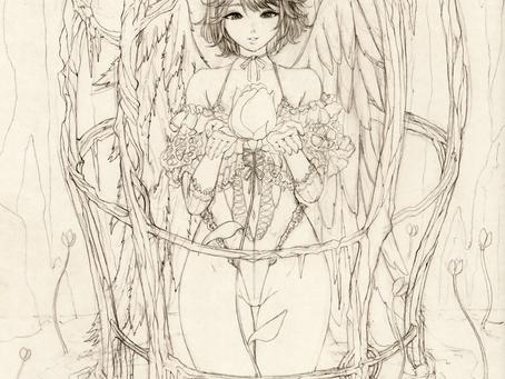 약속의 꽃 봉오리(스케치 중...)