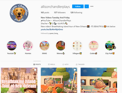 AllisonChandlerPlays Instagram