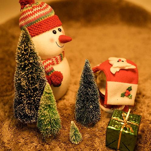 Homestarry Desktop Miniature Pine Tree Tabletop Christmas Tree Small Pine Tree D