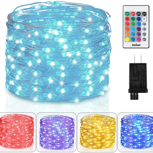 16 Colors USB Fairy Lights(Adapter excluded): Using remote to turn on your color
