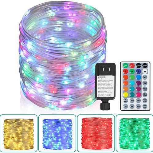 Outdoor String Lights,80 Ft Rope Lights 240 LEDs Color Changing Lights Remote