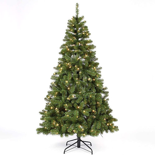 Homestarry 6.5-Foot Pre-lit Christmas Tree with Lights | 300 Clear Warm White