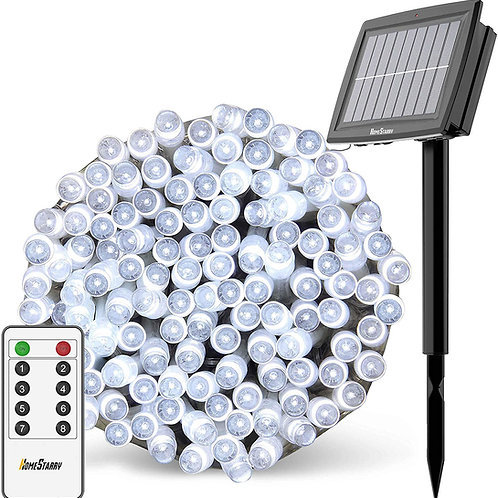 Solar String Lights Outdoor, Christmas Lights, 80Ft 200 LEDs with Remote 8 Light