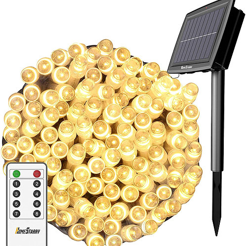 Solar String Lights Outdoor, Christmas Lights, 80Ft 200 LEDs with Remote