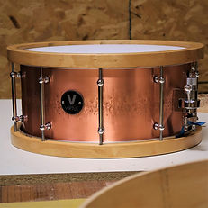 VIRTUE Copper-Mahogany Hybrid Snare Drum