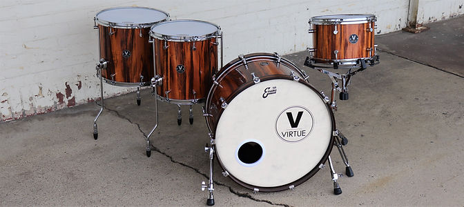 Tigerwood Custom Drum Set