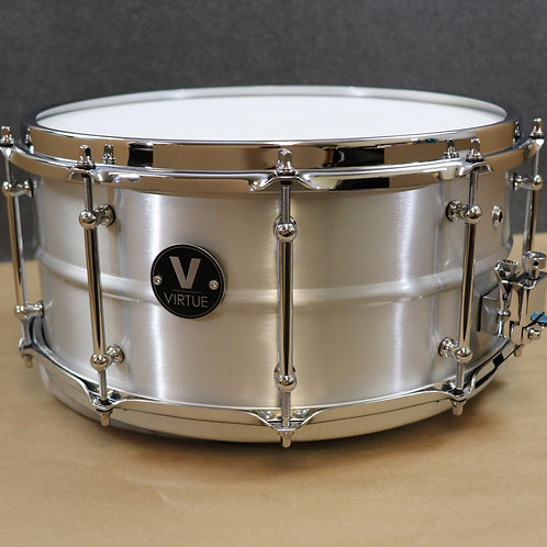 "VIRTUE: Diligence™ 14""x6.5"" Aluminum Snare Drum DEMO"