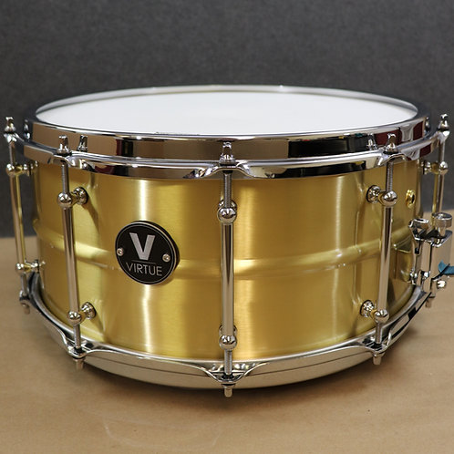 """VIRTUE: Diligence™ 14""""x6.5"""" Brass Snare Drum"""