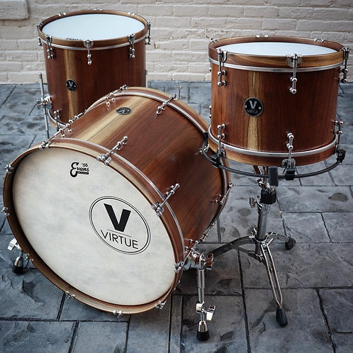 VIRTUE: Honesty™ 22/16/13 Calico Walnut Drum Set - DEMO
