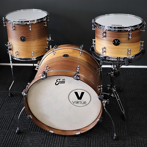 VIRTUE: Humility™ 20/14/12 Calico Walnut Drum Set w/ Timbre-Rings™