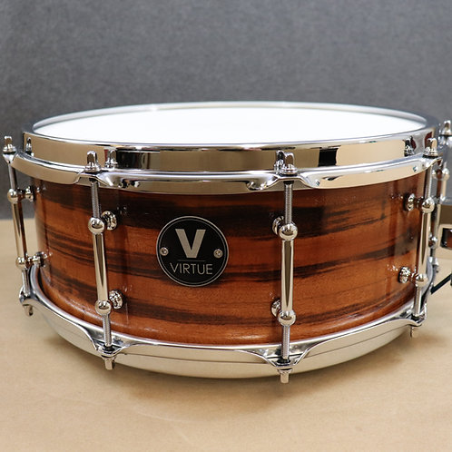 "VIRTUE: Humility™ 14""x5.5"" Tigerwood-Maple Snare"