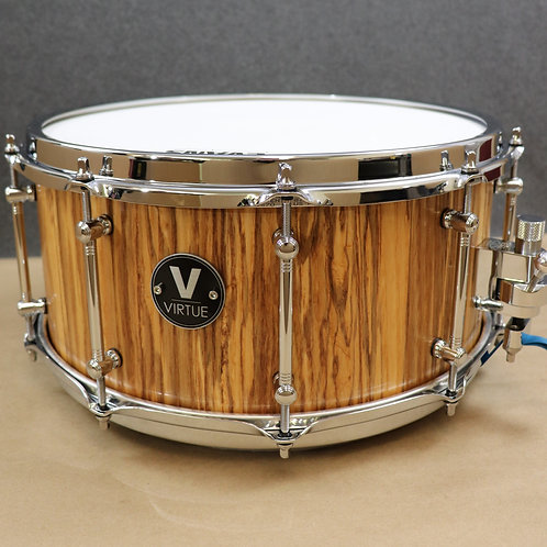 "VIRTUE: Honesty™ 14""x6.5"" Spalted Ash Snare Drum"