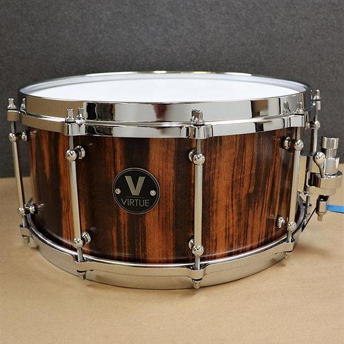 "VIRTUE: Honesty™ 14""x6.5"" Tigerwood Snare Drum w/Diecast"