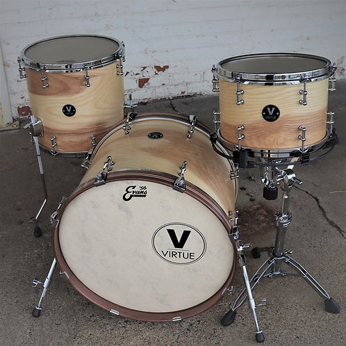 VIRTUE: Humility™ 20/14/12 Ash Drum Set with Walnut BD Hoops