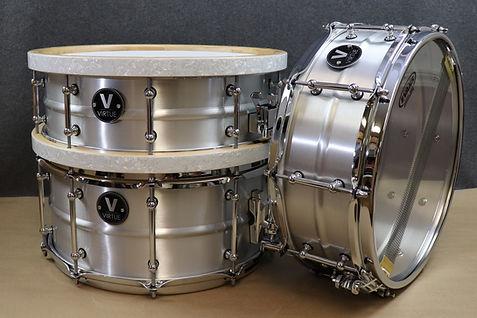 VIRTUE Drums Aluminum Snare Drum Diligence Custom Wood Hoops