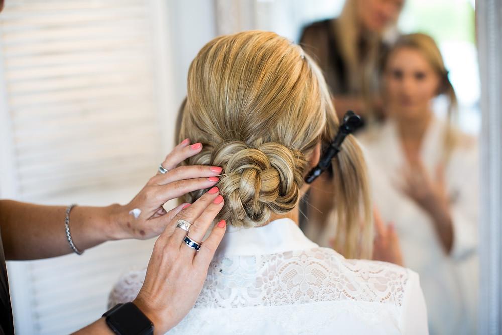 Beautiful Bridal Updo. Modern Wedding Hairstylist.