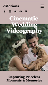 Event Production website templates – Wedding Videographers Company