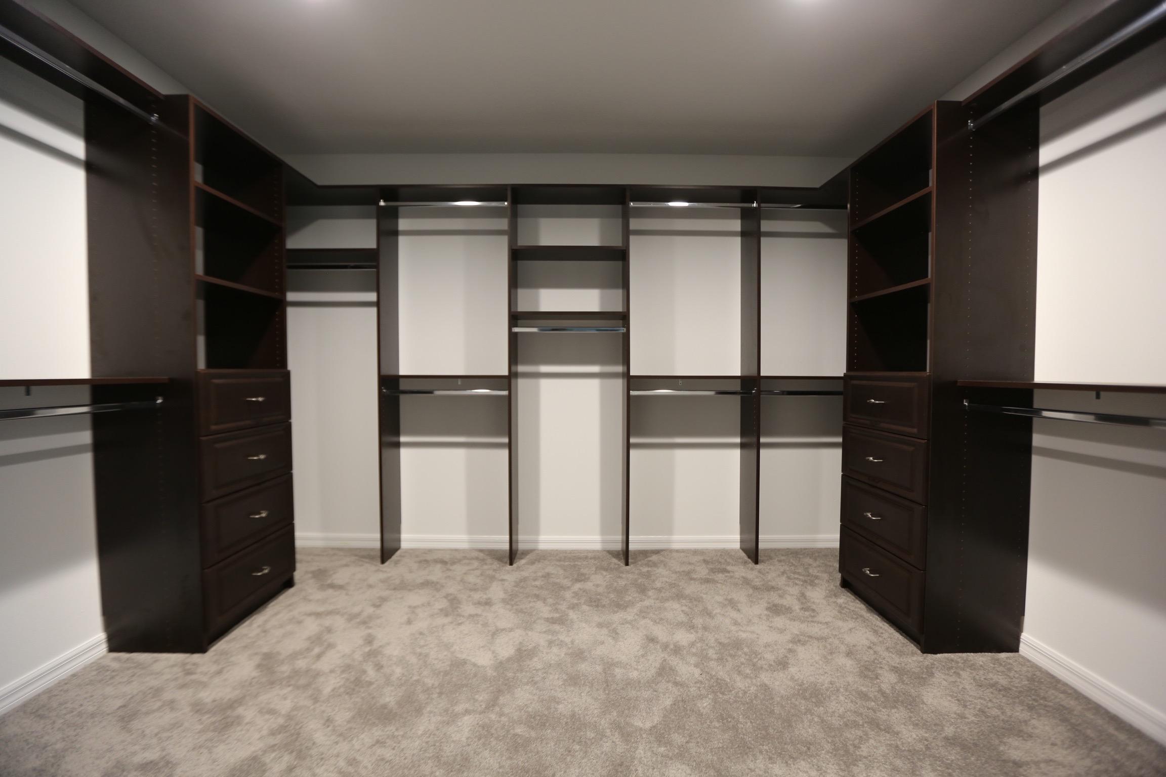 Floor Based Closets:  Open